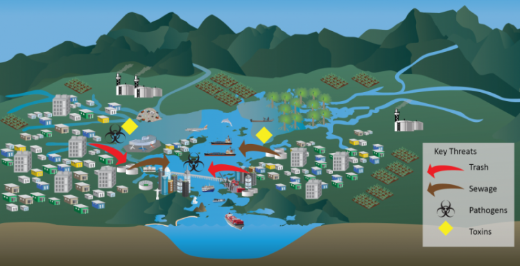 Guanabara Bay conceptual diagram