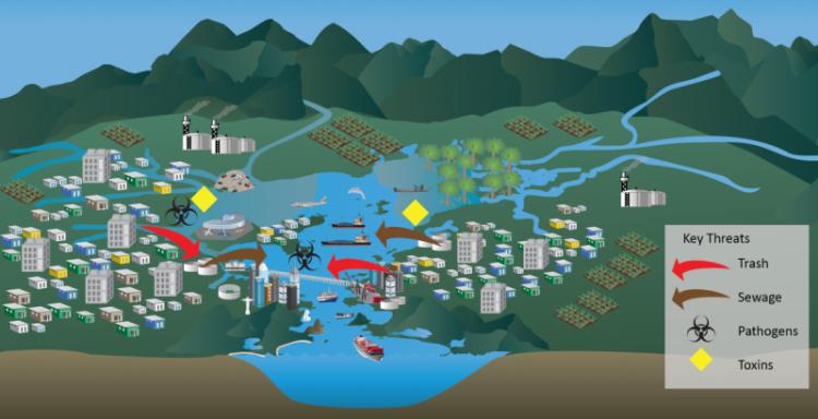Guanabara Bay conceptual diagram