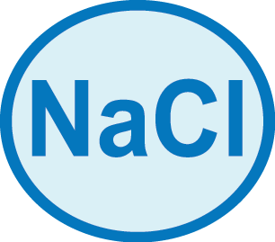 Symbol indicating salinity tolerance.