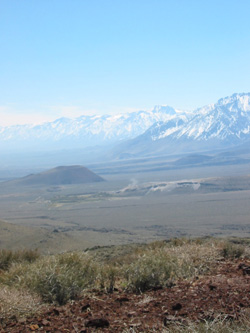 View of Owens Valley from the summit of Crater Mountain.