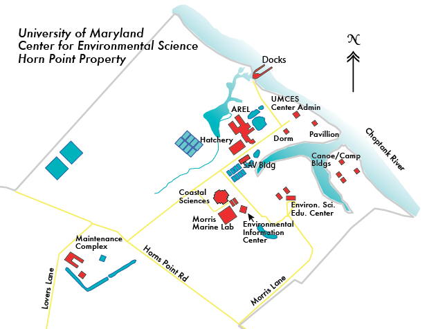 Horn Point Campus Map