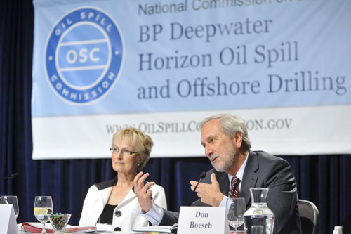 fran ulmer don boesch at oil spill hearing