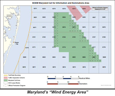 Wind Map Off Shore Maryland