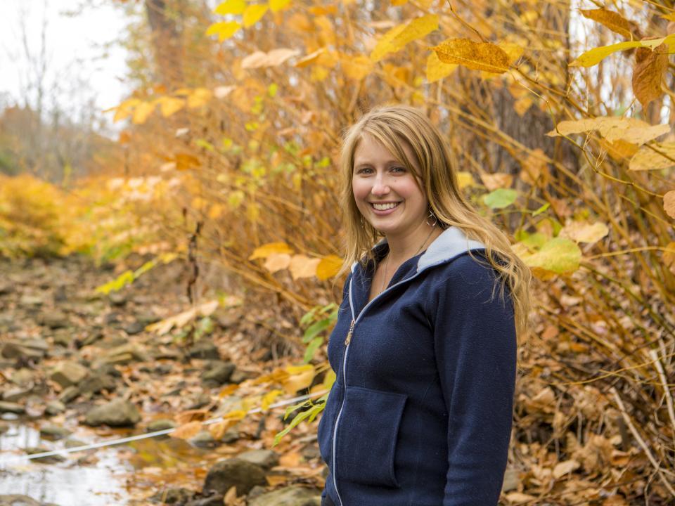 Stephanie Siemek poses during field work.