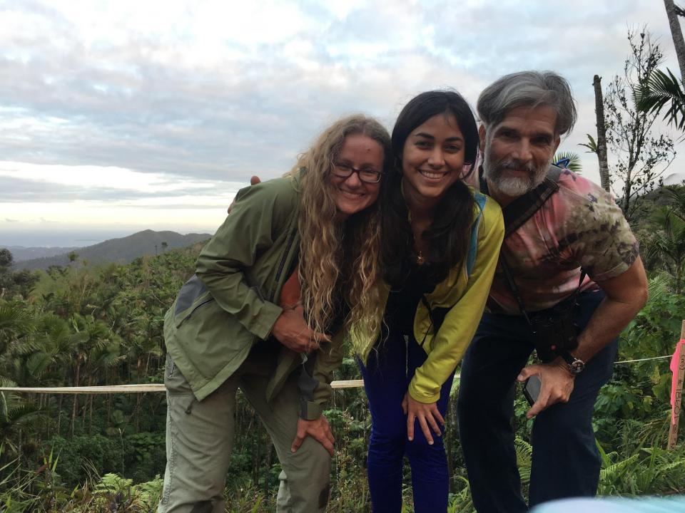 Field Technicians Nora Bonilla and Emilio Font with Claire Nemes