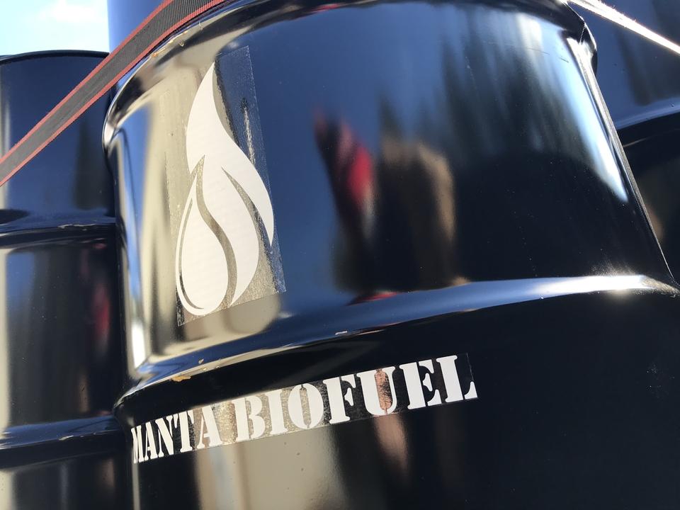 A manta biofuel oil drum