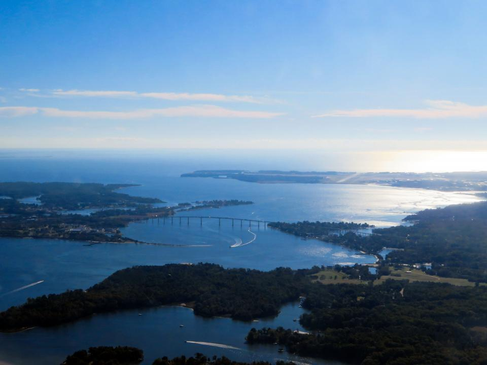 Patuxent River as seen from the air