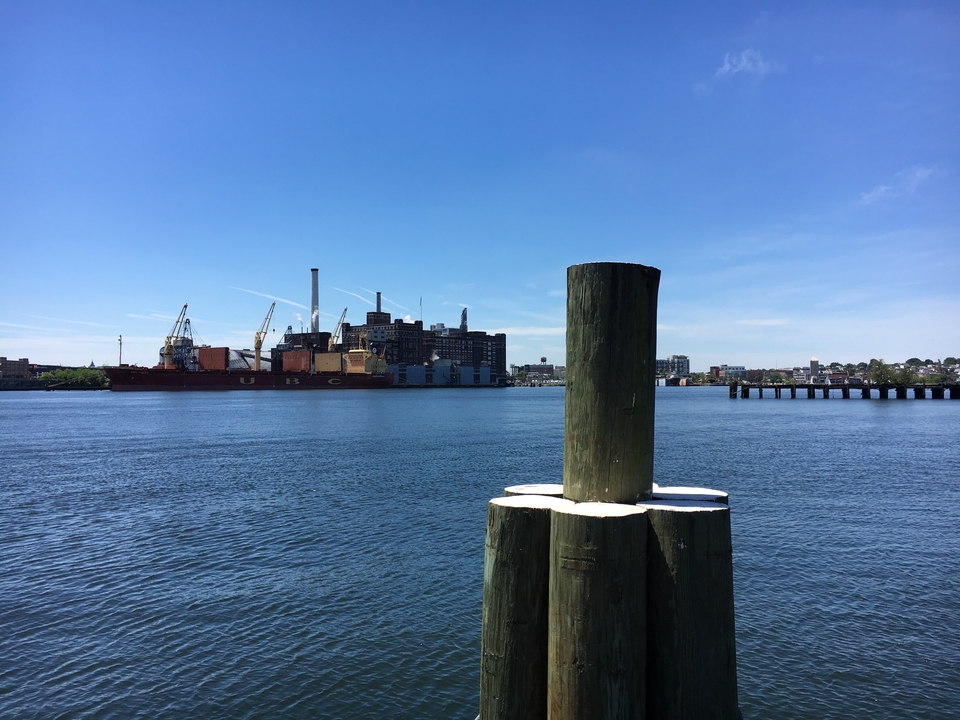 Landscape picture of Baltimore Harbor