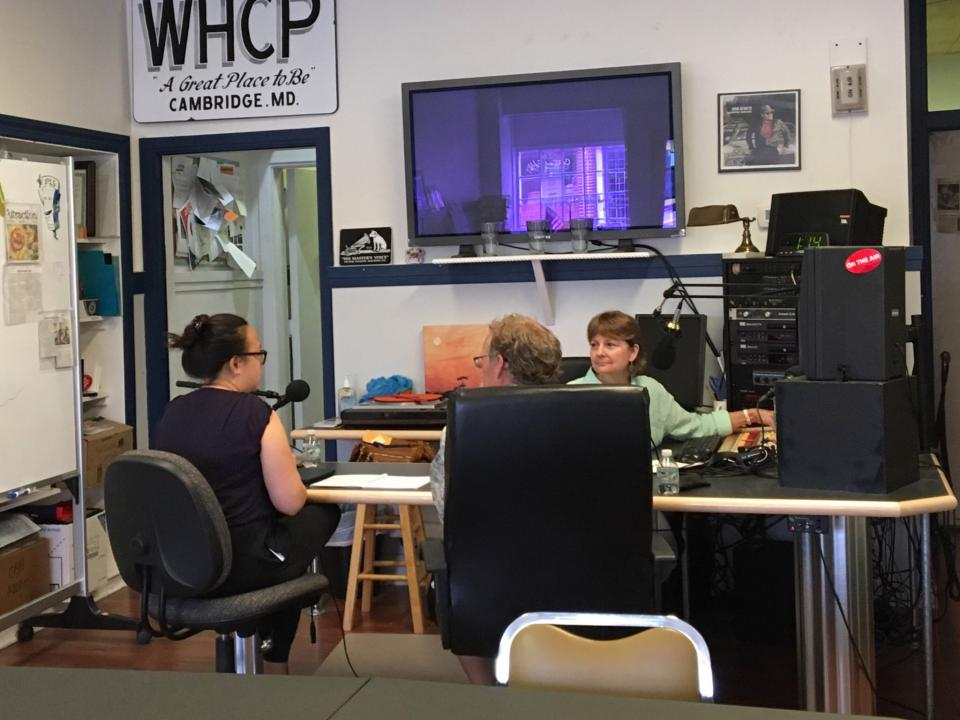 Jacqueline Tay and Raleigh Hood give an interview in WHCP's studio.