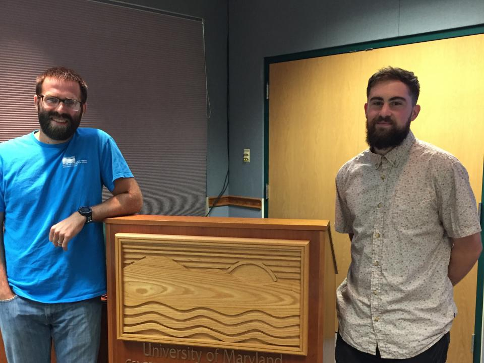 Joel Bostic and Scott McKinstry at podium