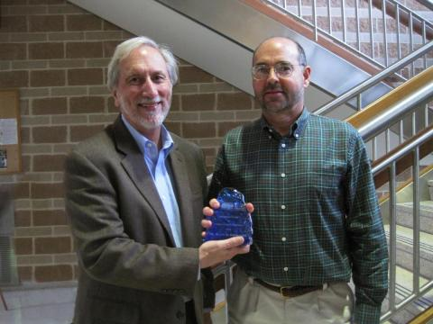 Don Boesch presents Keith Eshleman a President's Award