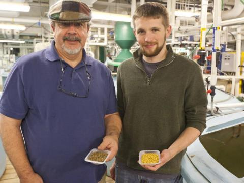 Aaron Watson conducted his research with Dr. Allen Place at the Institute of Marine and Environmental Technology