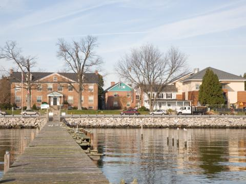 View of Chesapeake Biological Laboratory in Solomons from the water