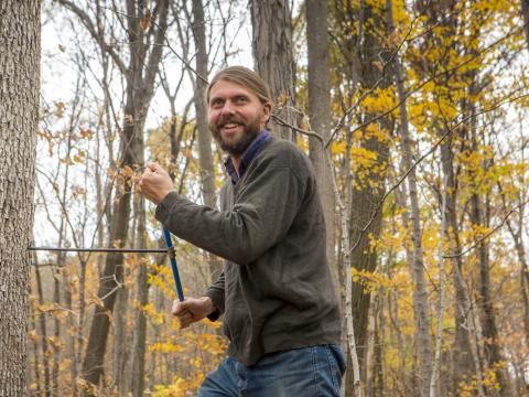 Andrew Elmore wanted to study whether trees in different parts of the continent use different cues to know when to leaf out.