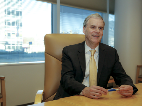 President Peter Goodwin in the board room