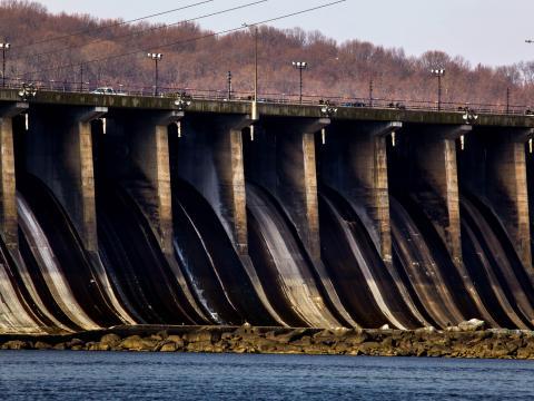 Conowingo Dam in winter