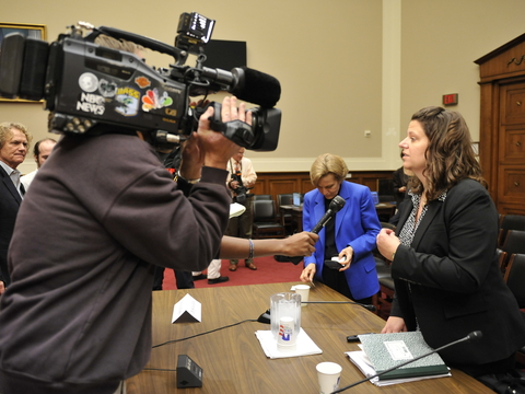 Mitchelmore interviewd by media after hearing.JPG