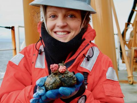 Ph.D. candidate Chelsea Wegner on Arctic research cruise