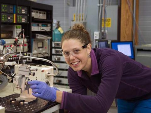 CBL's Jenna Luek in the lab.