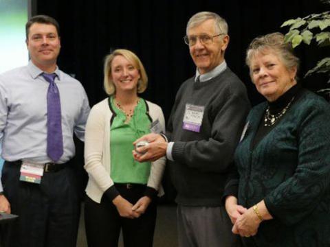 Walter Boynton receives the Carl S. Weber Award.