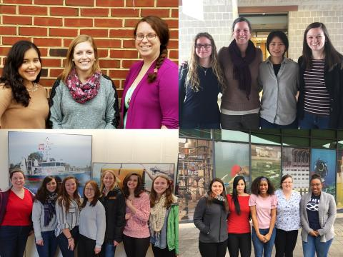 This is a collage of the graduate students who participated in a podcast about gender diversity in science.