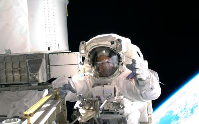 Ricky Arnold at the International Space Station