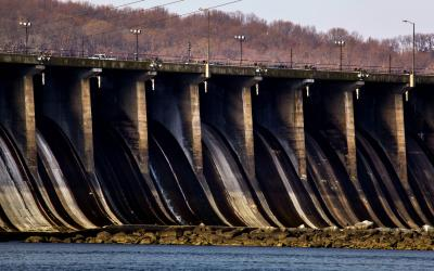 Conowingo Dam in winter