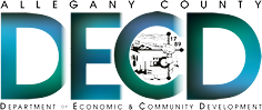 DECD in large letters surrounded by Allegany County Department of Economic and Community Development
