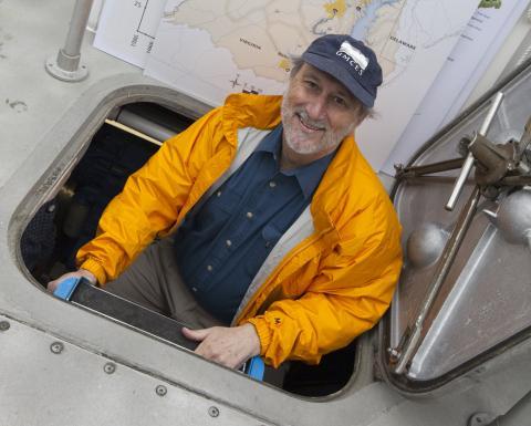 Don Boesch on Rachel Carson research vessel