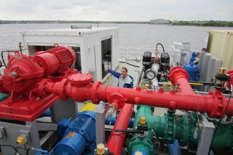 Mario Tamburri on ballast water treatment platform