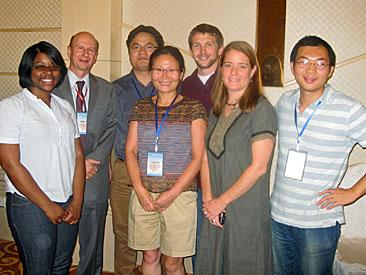 UMCES@IMET participants at the recent IMBC 2010 conference in Qingdao, China. Left to right, Jeanette Davis, Russell Hill, Jindong Zan, Sook Chung, Aaron Watson, Holly Bowers, Fan Zhang.