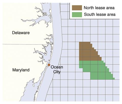 Maryland's proposed wind-power lease zone