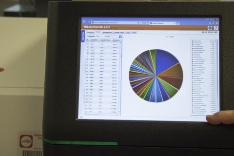 compute screen showing a pie chart