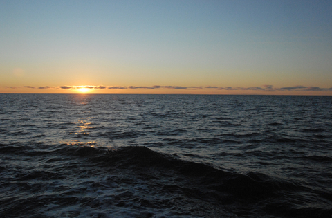 the Chukchi sea at sunset