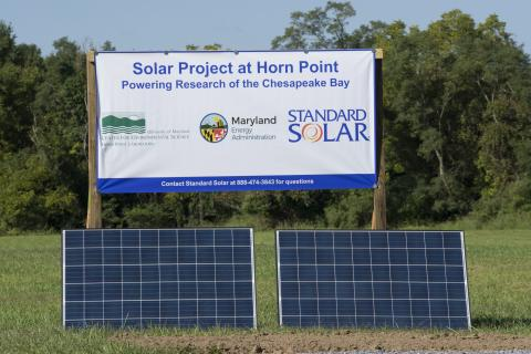 solar panels at Horn Point Laboratory