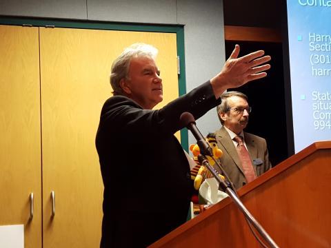 Dr. Hager speaks at Johnson Award ceremony