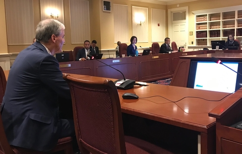 Peter Goodwin testifies about UMCES to General Assembly committee members