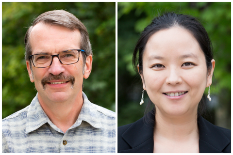 Headshots of Eric Davidson and Xin Zhang