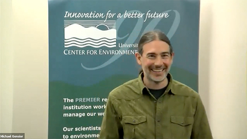 Dr. Gonsior presents a webinar