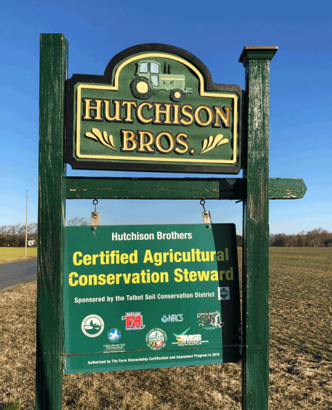 Hutchison Brothers Farm Sign