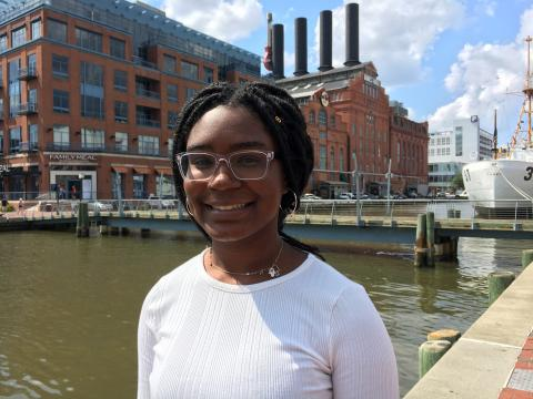 Hutton Scholar Alexandra Grayson at IMET