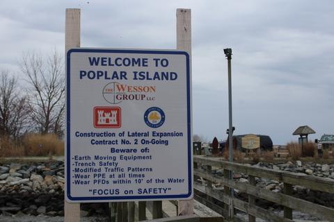 Poplar island sign