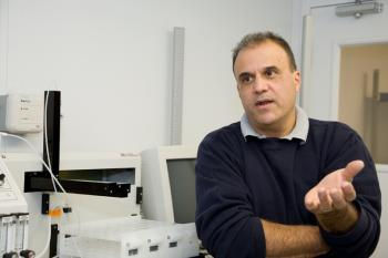 Photo of Mark Castro in the Lab