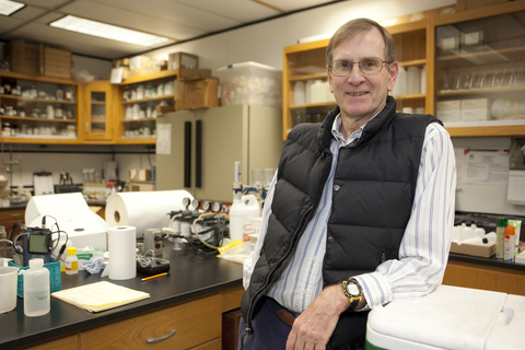 Tom Fisher in his lab