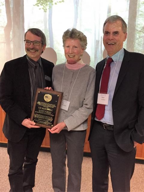 Liz McDowell receives 2018 Richard A. Johnson Environmental Education Award