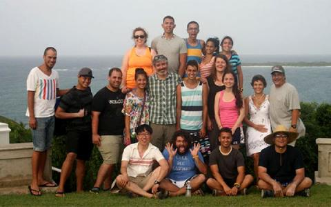 Group photo of 2013 Puerto Rico initiative undergraduates in Fajardo, Puerto Rico.