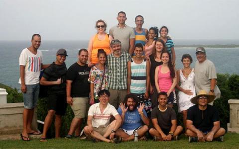 Group photo of 2013 Puerto Rico initiative undergraduates in Fajardo, Puerto Rico.