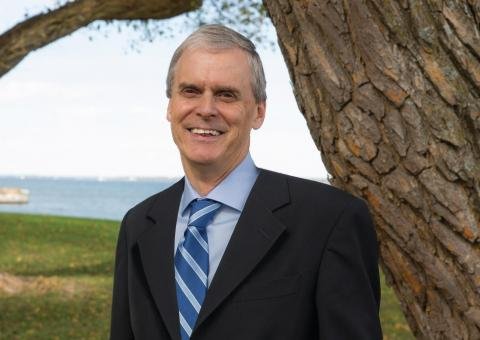 President Peter Goodwin pictured alongside the Choptank River on the Eastern Shore of Maryland