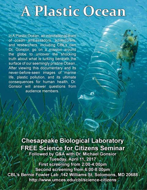 Plastic Ocean - 2017 Spring Seminar poster