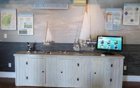 A view inside the Visitor Center.